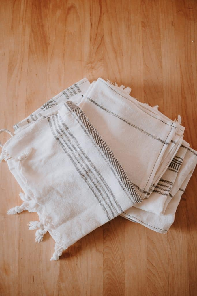 Stack of hand towels DIY