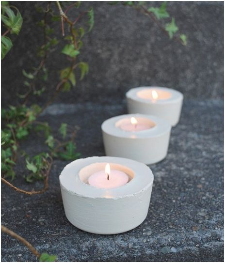 diy cement candle holders from Censational Style