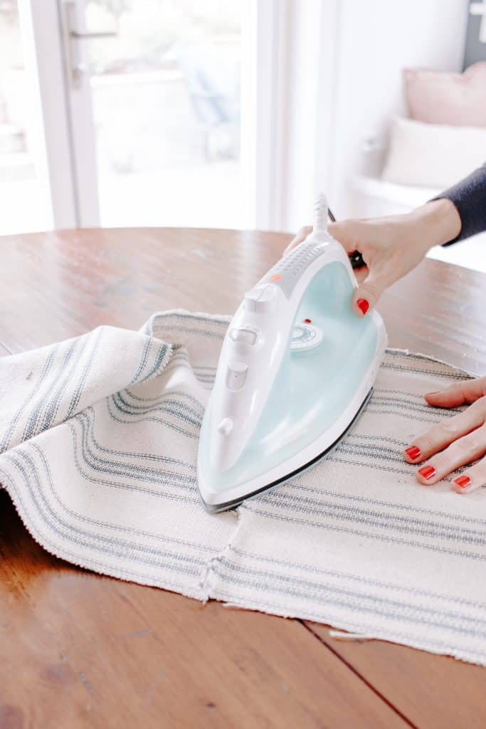Iron your table runner