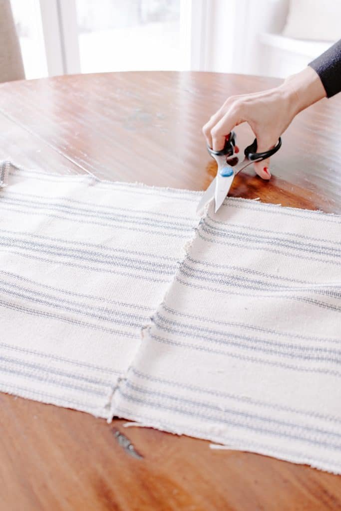Snip off excess fabric