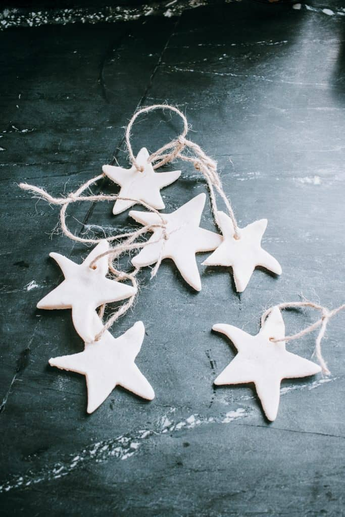 Star Salt Dough Ornaments and Our Xmas Tree 2018.  Happy December! #christmascrafts #saltdoughornaments #christmastree