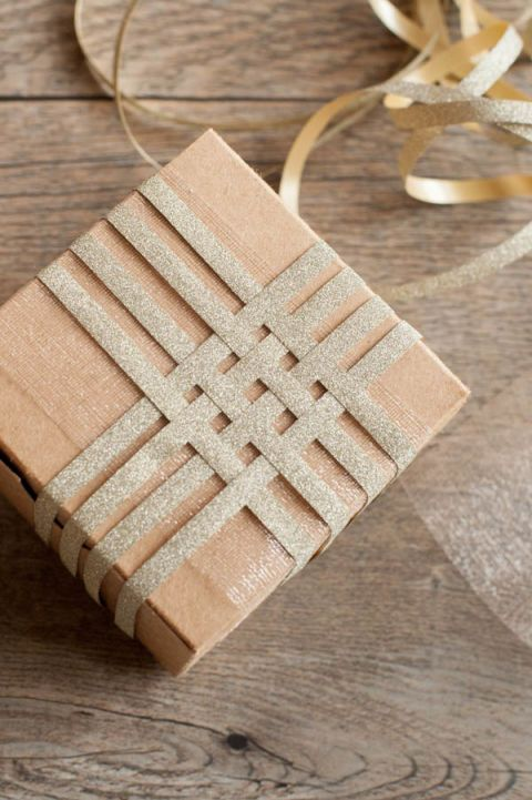 woven ribbon gift toppers