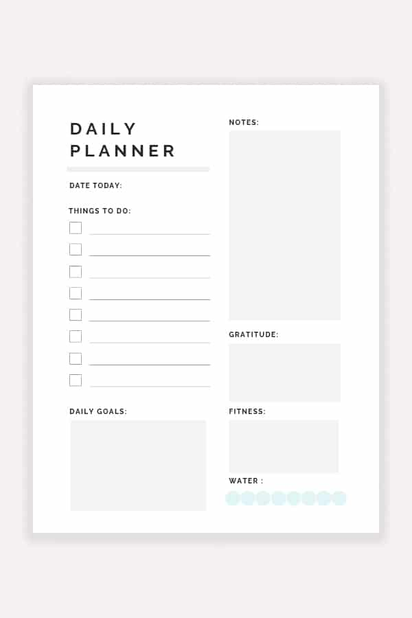 Free Printable Daily Planner 2019 Decor Hint
