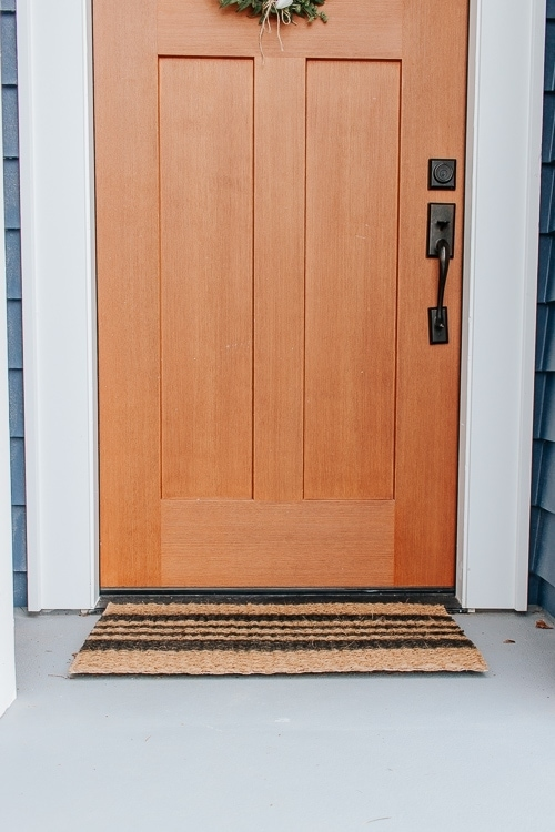 Striped Doormat DIY project