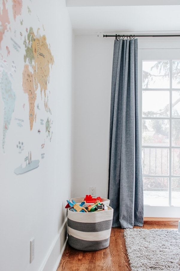Get your Curtains to Hang Straight - Take inexpensive curtains and make them look expensive. Plus - a great cheap blackout option for ya!