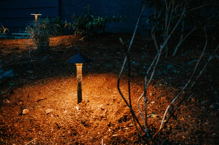 Landscape Lighting you can do yourself!  Check out our tips and see what lighting kit we used (it's less expensive then you think!)