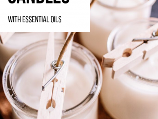 How to Make Soy Candles with Essential Oils - Learn how to make soy candles with essential oils in this easy tutorial and video. Discover the secret to a great candle scent. These make awesome homemade gifts!