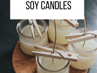 How to Make Soy Candles with Essential Oils - How to make soy candles with essential oils - easy tutorial and video.  Discover the secret to a great candle scent.