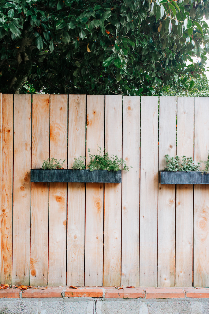 Herb Planters on Fence