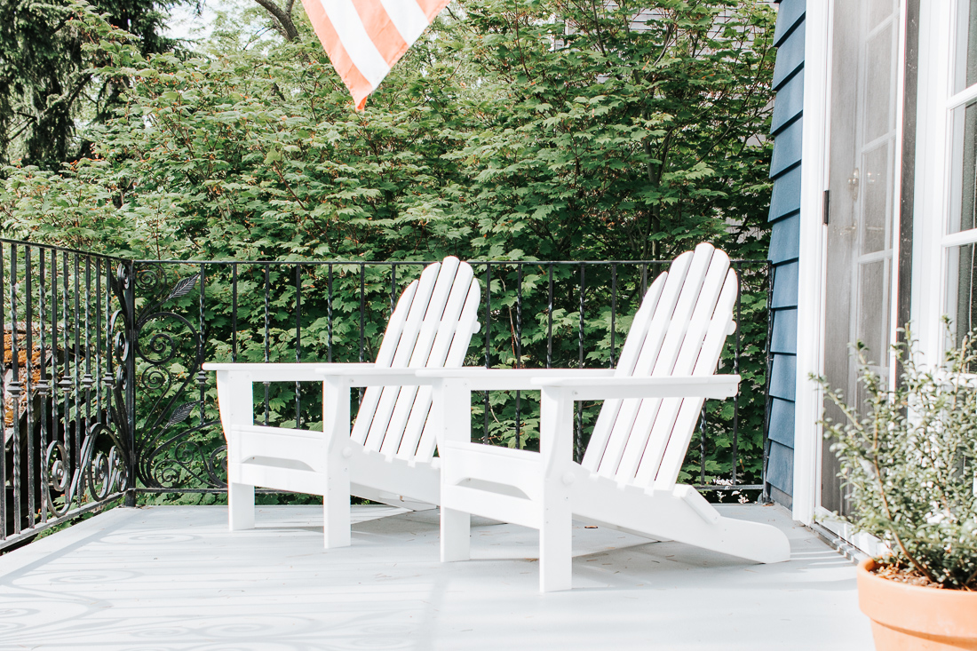 Polywood Adirondack Chairs in White
