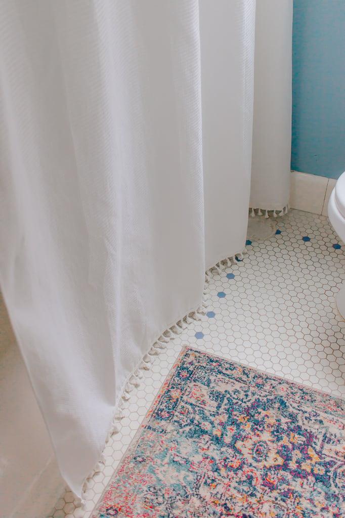Shower Curtain Idea for Your Bathroom :  Add tassel trim to your shower curtain.  #bathroom