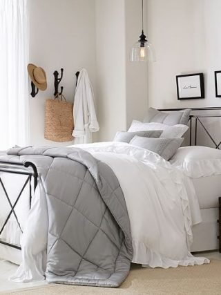 Pottery Barn Bedroom with Metal Bed
