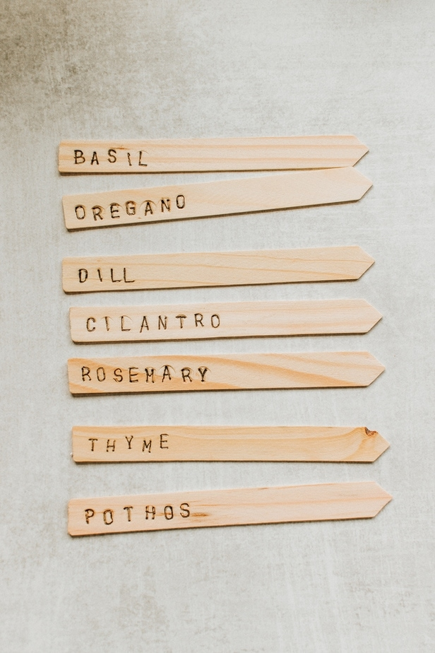 DIY Plant Markers - add a special touch to your gardens and containers. These are so easy and fun to make!