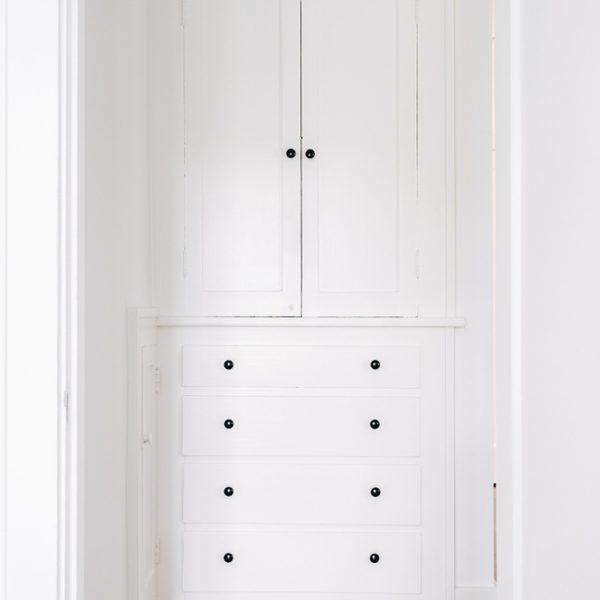 Built in linen cabinet