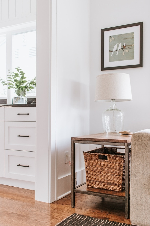 Restain your side table rather than buy a new one. Here's how.