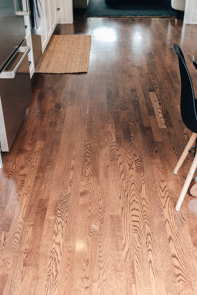 Red Oak Floor Stains - What we Chose and What We will NEVER do Again - Get some ideas and advice for selecting red oak floor stains.