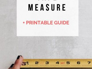 How to Read a Tape Measure + Free PDF Printable - Learn how to read a tape measure easily and print out this handy pdf for future reference!