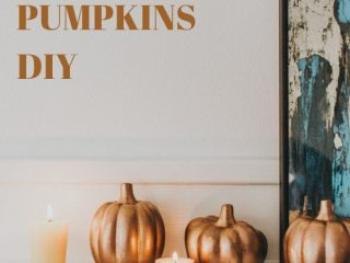 Dollar Store DIY: Rustoleum Aged Copper Pumpkins - Get ready for Fall with Rustoleum Aged Copper Spray Paint. In this tutorial, I show you how this copper metallic spray paint turns Dollar Tree pumpkins into expensive-looking antiques.