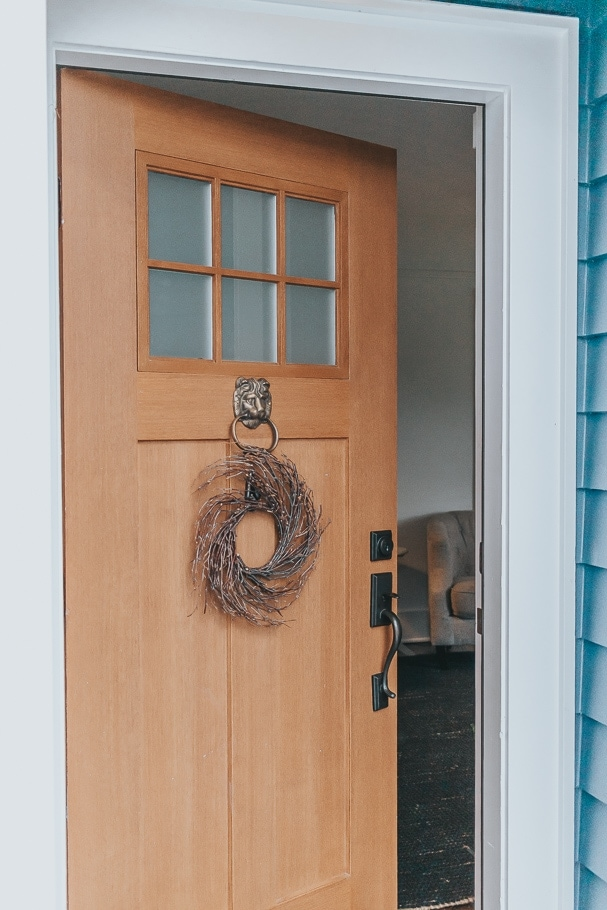 how to hang a wreath on a front door - home decor tips