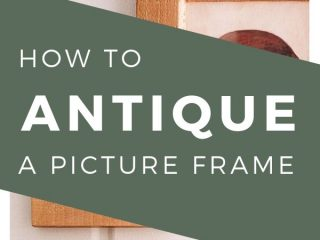 How to Antique a Picture Frame for Effortless Vintage Vibes - Love the look but not the price tag?  I'll show you how to take any picture frame and turn it into an expensive-looking antique frame with just a few simple products.  Learn how to antique a picture frame!