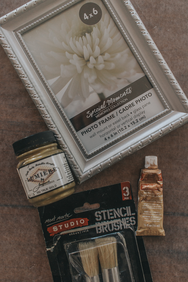 materials needed to antique a cheap picture frame
