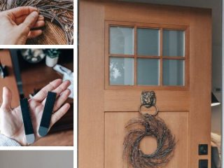How to Hang a Wreath on your front door without nails