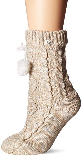 UGG Women's Pom Fleece Lined Crew Sock