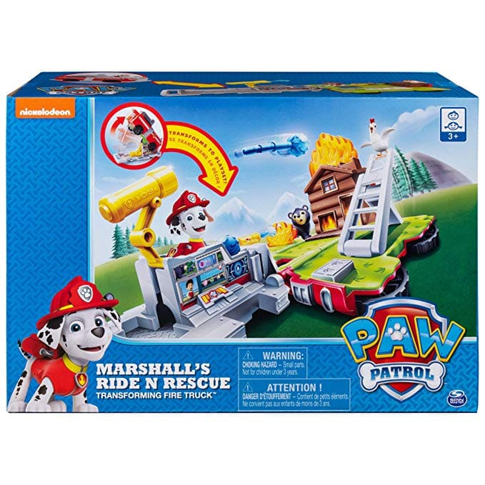 Paw Patrol, Ride N' Rescue, Transforming 2-in-1 Playset & Fire Truck, for Kids Aged 3 & Up