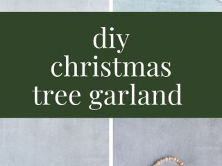 DIY Rustic Christmas Tree Beaded Garland - This tutorial will show you how to make a pretty Christmas tree beaded garland.  And you can make this in about ten minutes and for less than $10.  Ready to get started?