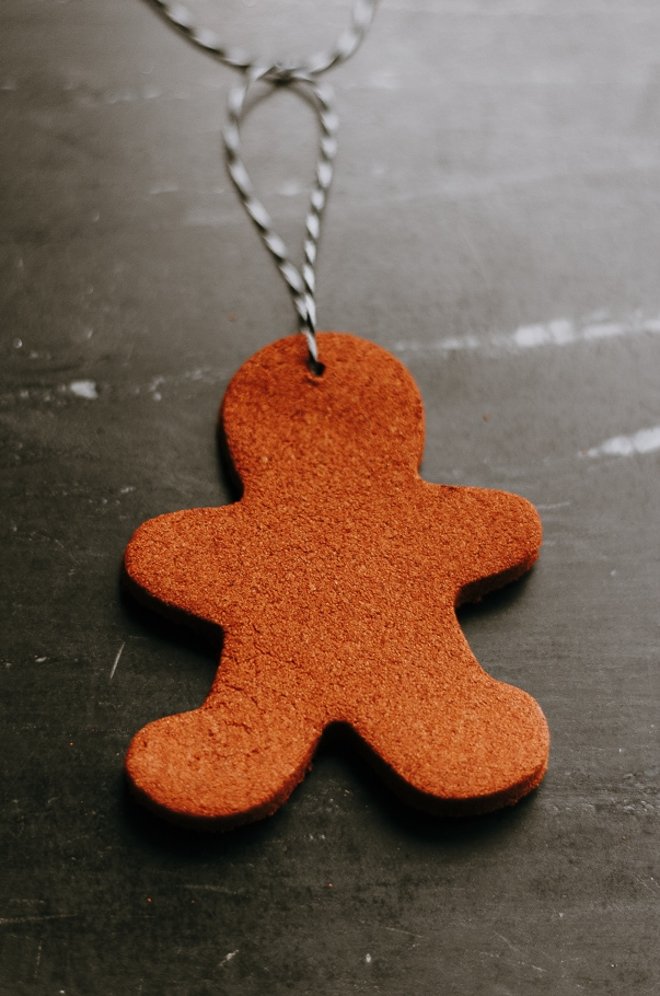 up close image of cinnamon applesauce ornaments