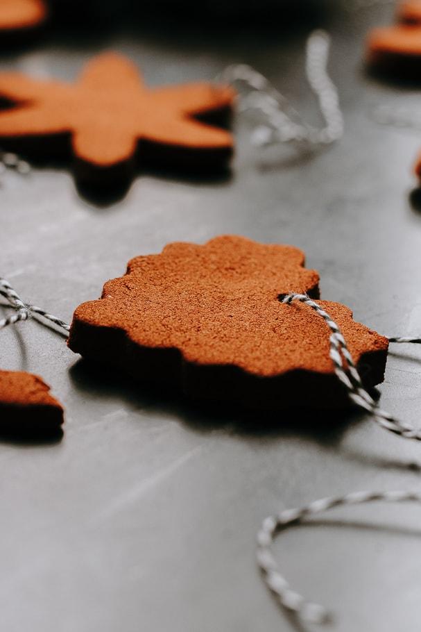 heart cutout cinnamon applesauce ornaments