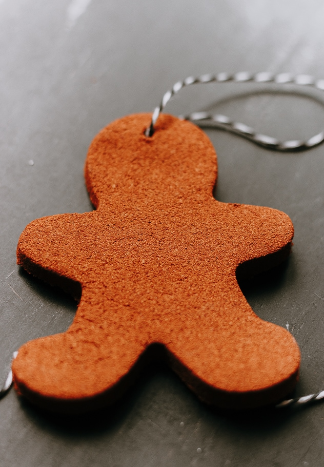 gingerbread man cinnamon applesauce ornaments