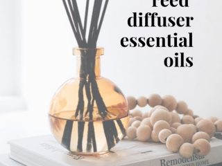 Easy DIY Reed Diffuser with Essential Oils - 2 Ways - Make this DIY reed diffuser in two different ways! Both of them quick and very easy to do. Get the full tutorial here for this DIY essential oil reed diffuser.