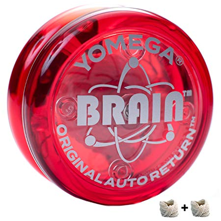 Yomega The Original Brain - Professional Yoyo For Kids And Beginners, Responsive Auto Return Yo Yo Best For String Tricks + Extra 2 Strings & 3 Month Warranty (red)