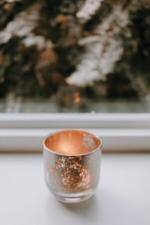 DIY Mercury glass in gold and silver