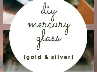 DIY Faux Mercury Glass in Gold and Silver - I'm showing you the easiest way to make DIY faux mercury glass.  In fact, with this method, I was able to make fancy-looking candle holders from Dollar Store items!  Read on for the full tutorial.