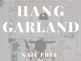 How to Hang Garland [Without Nails or Damage] - This post will show you how to hang garland on your walls, mantel, ceiling, etc without using nails and without damaging your walls. This is the same method I have used for years with success and it's inexpensive and will work with heavy garlands. Ready to learn how?