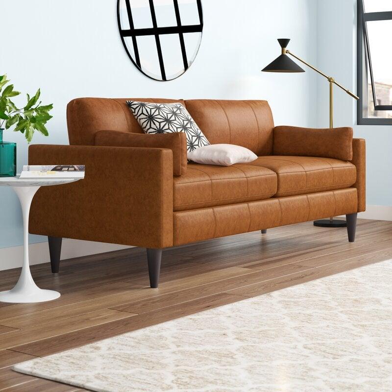 cayenna leather sofa from Wayfair