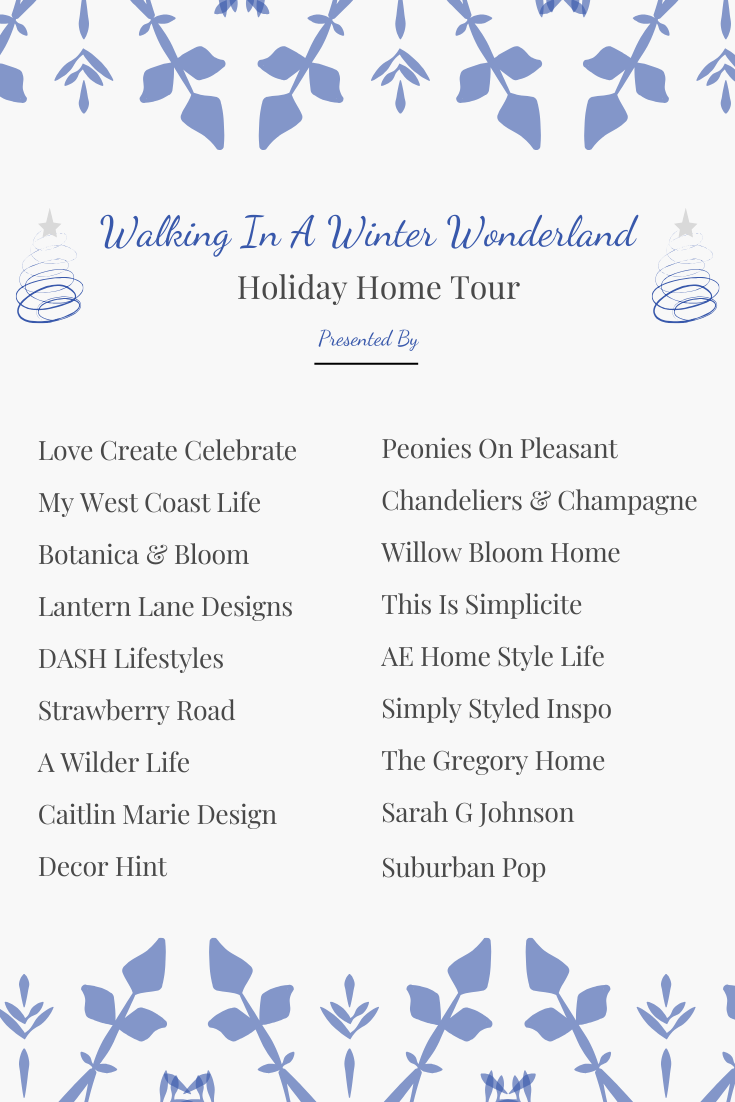 A Holiday Home Tour Blog Hop 2019