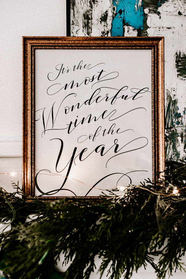 most wonderful time of the year printable christmas art