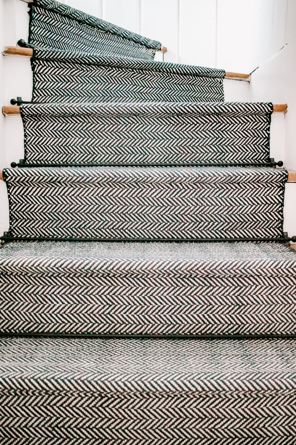 black matte stair runner rods