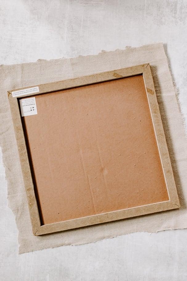 cut fabric to bulletin board size