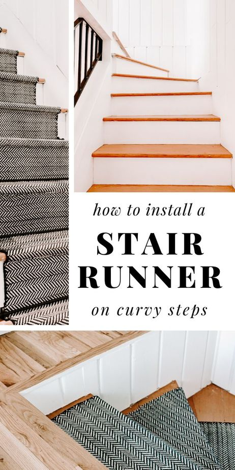 how to install a stair runner on curvy steps