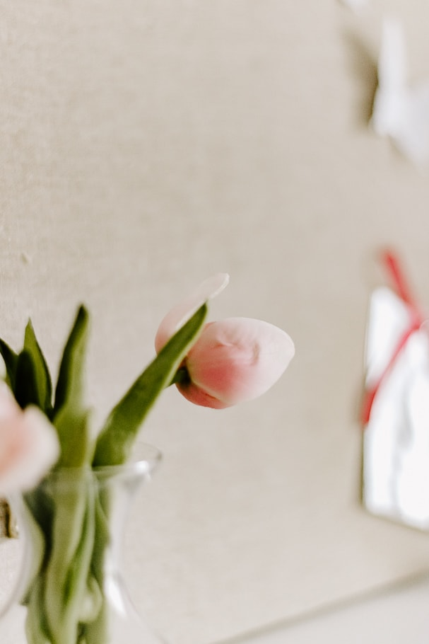 tulips on desk