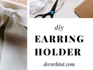 DIY Stud Earring Holder (Dollar Store Hack) - I'm going to show you how to make an easy and inexpensive DIY stud earring holder.  Keep reading to make your own!