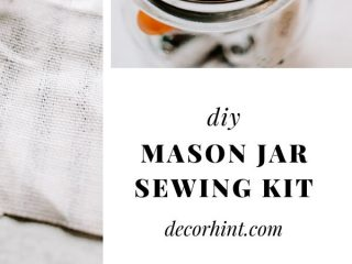 Learn how to make a mason jar sewing kit - home decor + diy + crafts