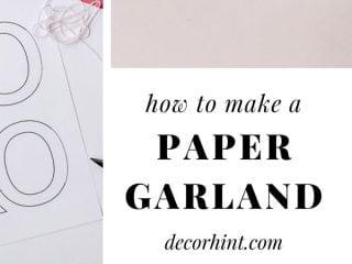 crafty paper garland diy