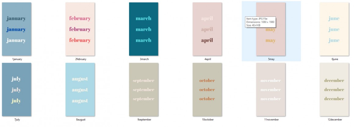 Iphone backgrounds for each month of the year
