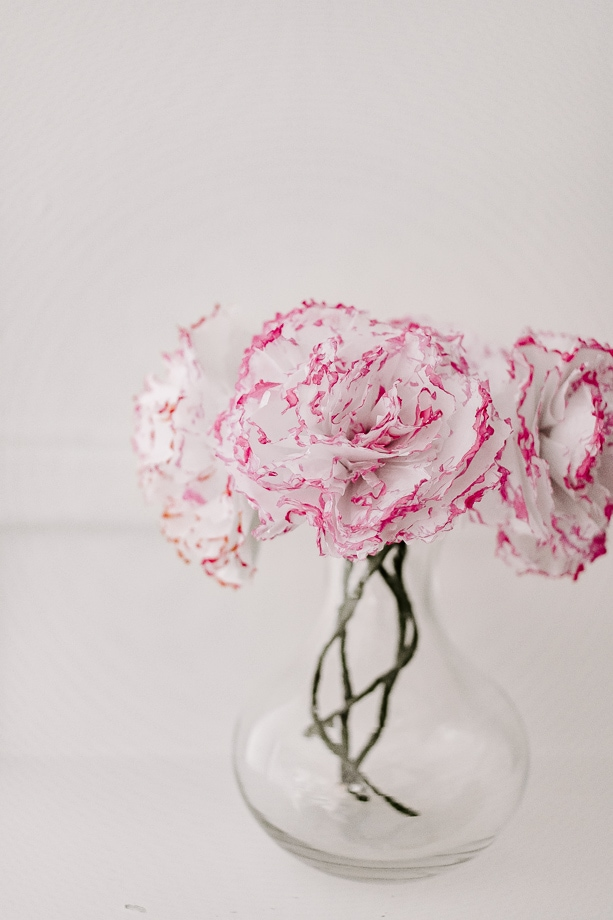 tissue paper flowers - how to make - home decor + DIY