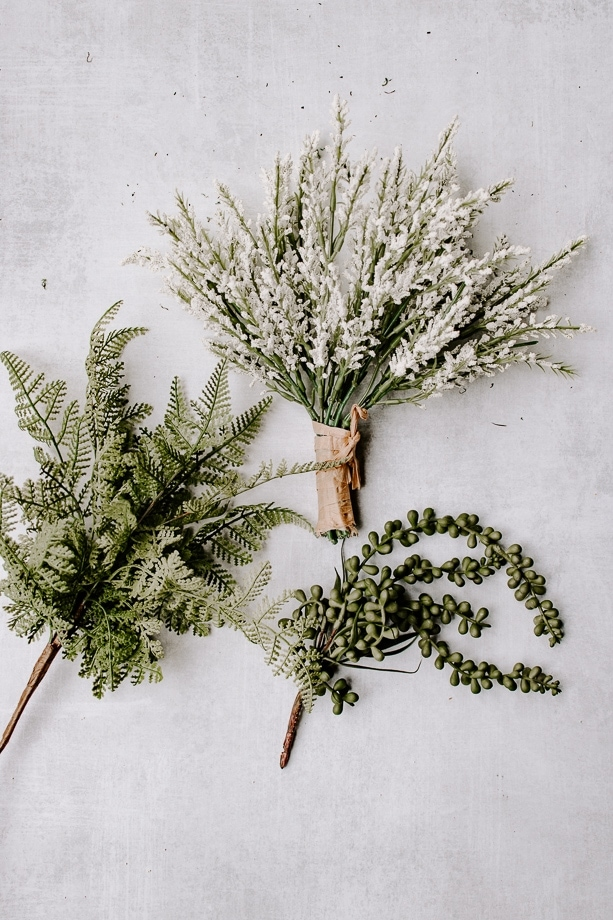DIY Home Decor: faux florals and greenery